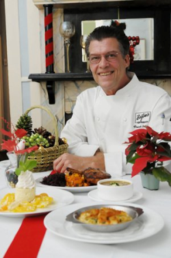 Chef Frankf Brightsen with sos shells