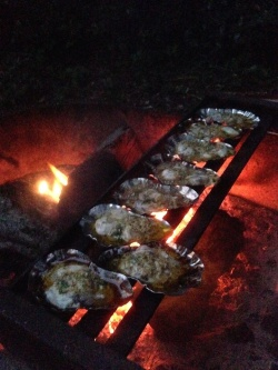 campout with oysters in sos shellss