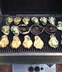sos shells with grilled spinach